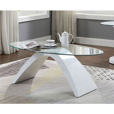 Tyra Modern Glass Top Coffee Table