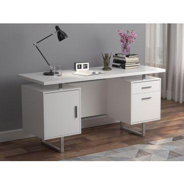 Vagan White Desk With Storage