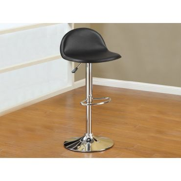 Valencia Black Leather Barstool Set of 2
