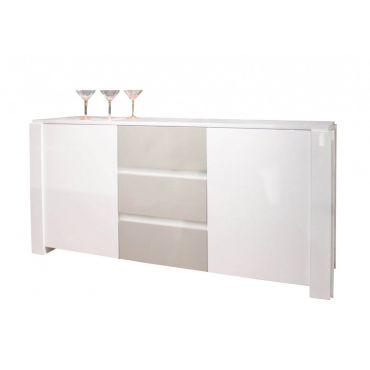Vanguard Server Cabinet White High Glossy Finish