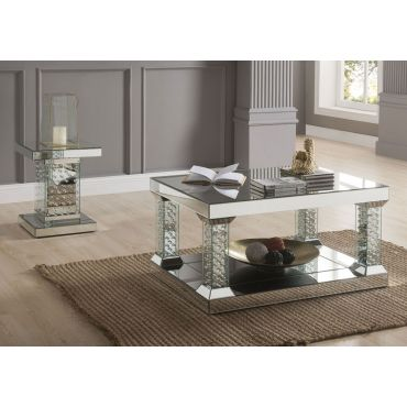 Vedlin Mirrored Coffee Table