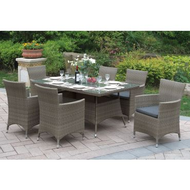 Vika Patio Dining Table With Chairs