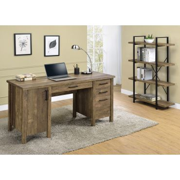 Venera Rustic Oak Finish Office Desk
