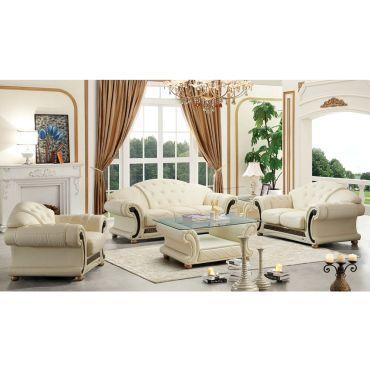 Noci Italian Leather Classic Sofa