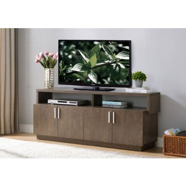 Versus TV Stand Rustic Walnut Finish