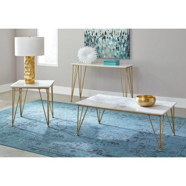 Vesken Marble Top Coffee Table