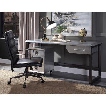 Vincenzo Aluminum Industrial Office Desk
