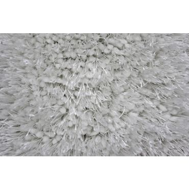 Shag Visco Hand Tufted White Rug