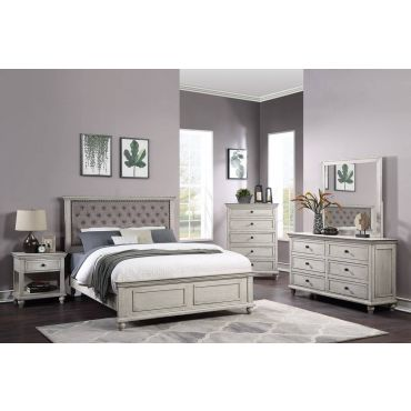 Volda Rustic Finish Bedroom Collection