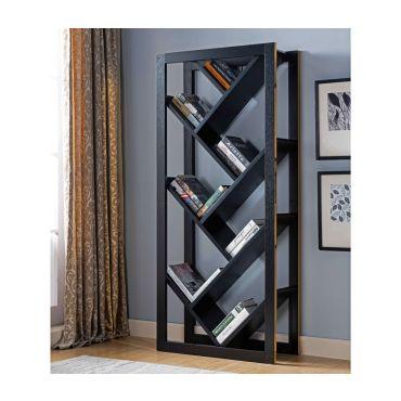 Volna Black Finish Bookcase