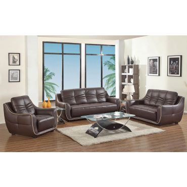 Volos Modern Leather Living Room