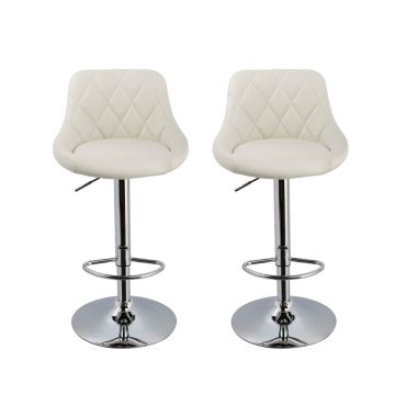 Waffle Modern Leather Bar Stool