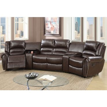Wales Brown Theater Recliner Sectional,Wales Theater Recliner Sectional Dimentions,Wales Theater Recliner Sectional