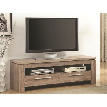 Enola Weathered Brown Finish TV Stand