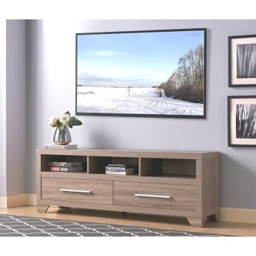 Wallis Rustic Oak Finish TV Stand