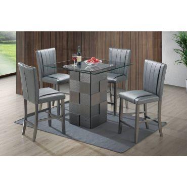 Wanda Grey Pub Table Set