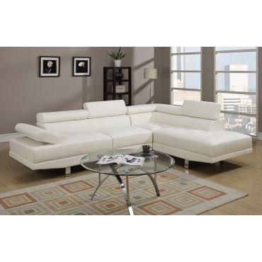 Warren Leather Modern Sectional Sofa