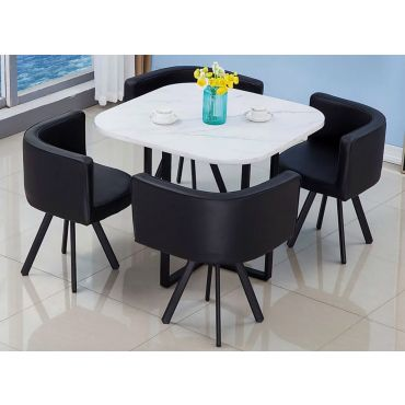 Ferron Marble Top Dining Table Set
