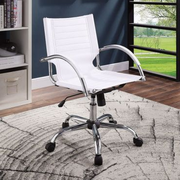 Gano White Office Chair