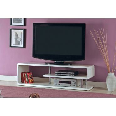 Amsdam White Lacquer Modern TV Stand
