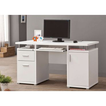 Bongo White Contemporary Office Desk