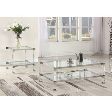Wilcox Coffee Table With Acrylic Legs