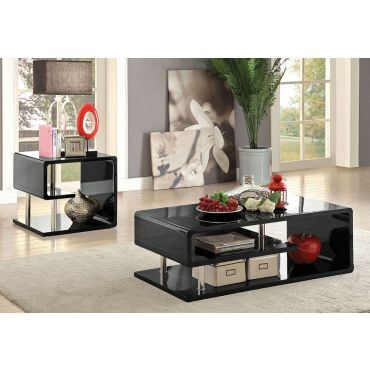 Willi Coffee Table Black Lacquer Finish