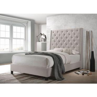 Winston Ivory Velvet Bed