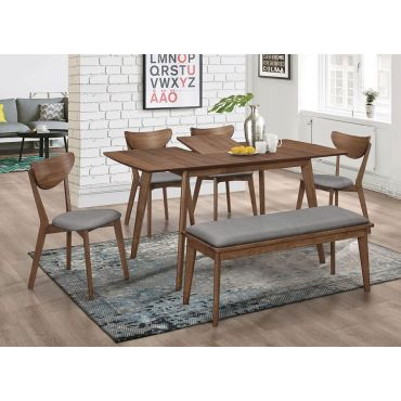 Woodmark Mid-Century Modern Dining Table Set