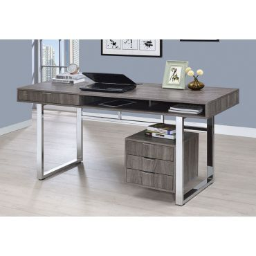 Worcher Rustic Grey Home Office Desk