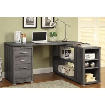 Yvette Rustic Grey Corner Desk
