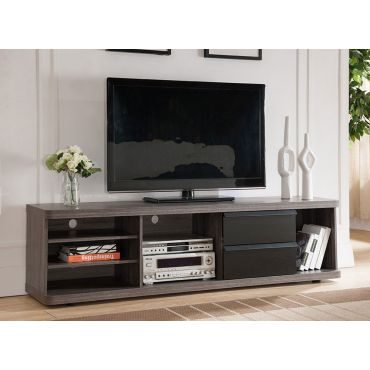 Zega Rustic Grey Finish Modern TV Stand