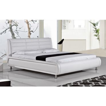 Zen White Bed With LED Lights