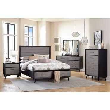 Zena Grey Modern Bedroom Furniture