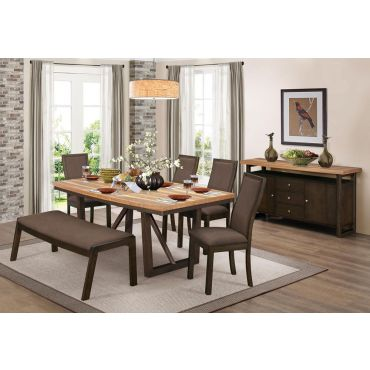Zenith Extendable Formal Dining Table Set
