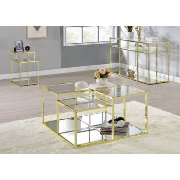 Zephyr Gold Finish Coffee Table