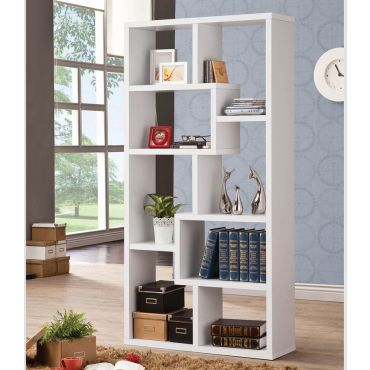 Zeus White Display Bookcase