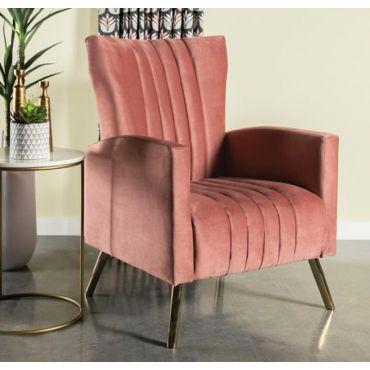 Jade Rose Velvet Accent Chair