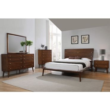 Zimmer Contemporary Style Bed Collection