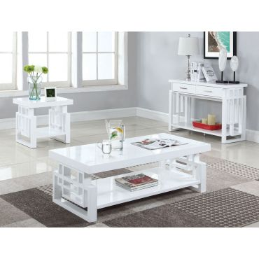 Zircon Modern Coffee Table White Finish