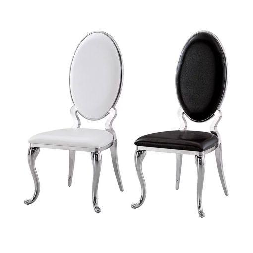 Sondrio Dining Chairs Chrome Frame