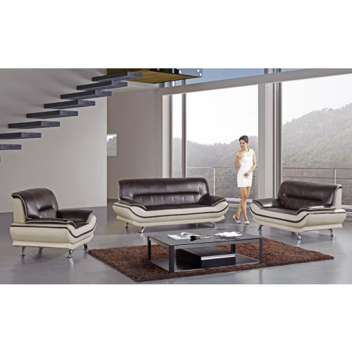 Betta Modern Style Two Tone Sofa Set