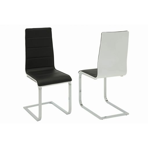 Agata Black & White Dining Chair
