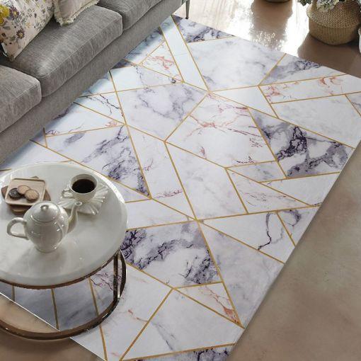 Aiden Marble Design Modern Rug