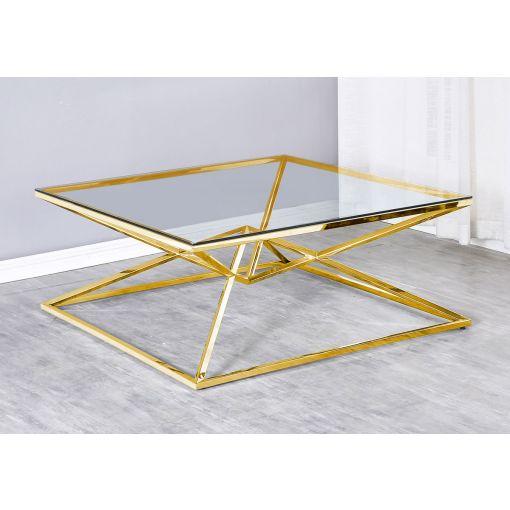 Gianni Gold Finish Coffee Table