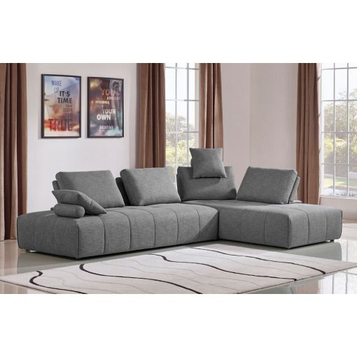 Alsatia Grey Fabric Modular Sectional
