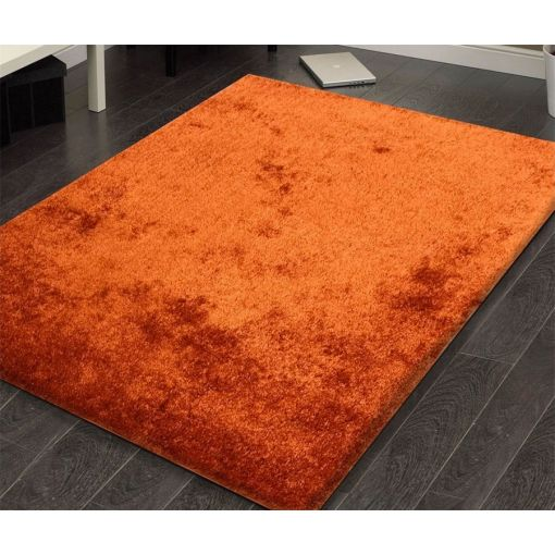 Amore Solid Rust Shag Rug