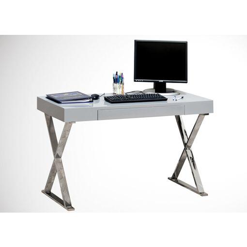 Roreti White Lacquer Finish Computer Desk