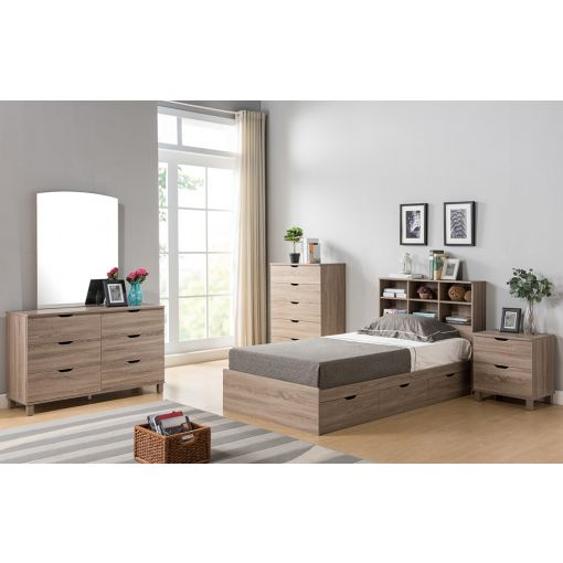 Basil Youth Chest Bed With Drawers