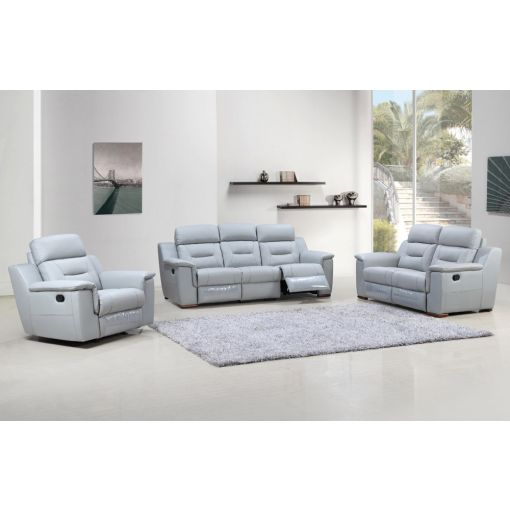 Becky Grey Leather Recliner Living Room